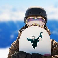 RBG Superhero Sticker on a Snowboard example