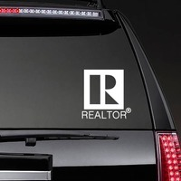 Realtor Real Estate Agent Sticker on a Rear Car Window example