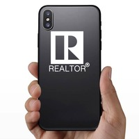 Realtor Real Estate Agent Sticker on a Phone example