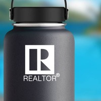 Realtor Real Estate Agent Sticker on a Water Bottle example