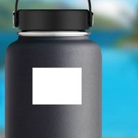 Rectangle Shape Sticker on a Water Bottle example