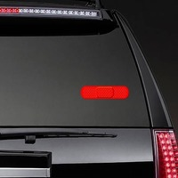 Bright Red Band Aid Bandage Sticker on a Rear Car Window example