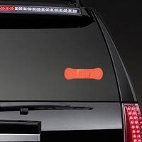 Red Orange Band Aid Bandage Sticker on a Rear Car Window example