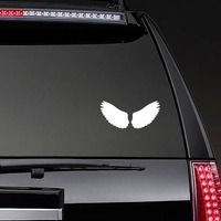 Regal Feathered Wings Sticker on a Rear Car Window example