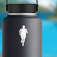 Relay Racer Sticker on a Water Bottle example