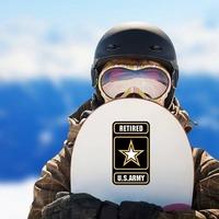 Retired U.S. Army Logo Sticker on a Snowboard example