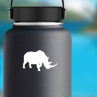 Rhino Sticker on a Water Bottle example