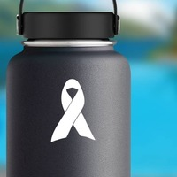 Ribbon Sticker on a Water Bottle example