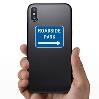 Roadside Park To Right Sticker on a Phone example