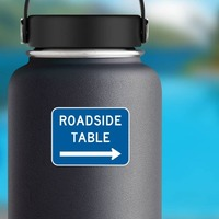 Roadside Table To Right Sticker on a Water Bottle example