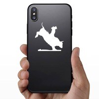 Rodeo Cowboy Bull Rider Sticker on a Phone example