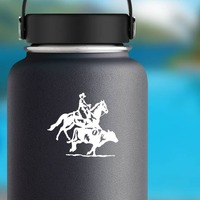 Rodeo Cowboys Team Penning Sticker on a Water Bottle example