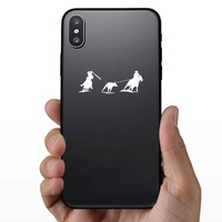 Rodeo Cowboys Team Rope Sticker on a Phone example