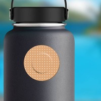 Round Band Aid Bandage Sticker on a Water Bottle example