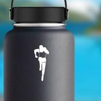 Runner Sticker on a Water Bottle example