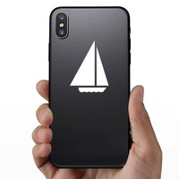 Sail Boat Sticker on a Phone example