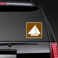 Sail Boats Sticker on a Rear Car Window example