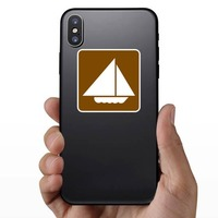Sail Boats Sticker on a Phone example