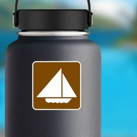 Sail Boats Sticker on a Water Bottle example