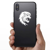Scary Lion Sticker on a Phone example