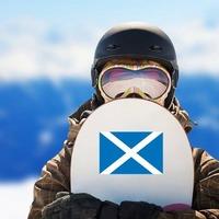 Scotland Flag Sticker on a Snowboard example