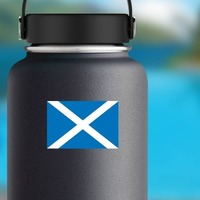 Scotland Flag Sticker on a Water Bottle example