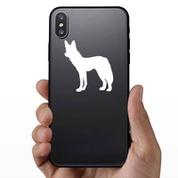 Scrawny Wolf Coyote Sticker on a Phone example