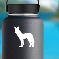 Scrawny Wolf Coyote Sticker on a Water Bottle example