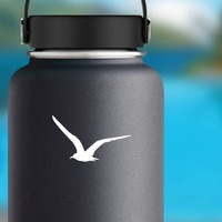 Seagull Flying Sticker on a Water Bottle example