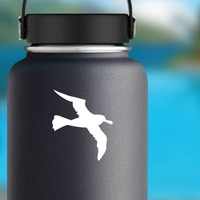 Seagull Sticker on a Water Bottle example