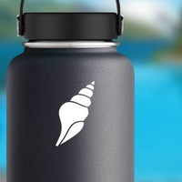 Seashell Conch Sticker on a Water Bottle example