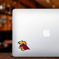 Serious Gamecock Mascot Sticker on a Laptop example