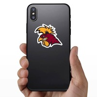 Serious Gamecock Mascot Sticker on a Phone example