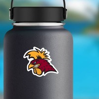 Serious Gamecock Mascot Sticker on a Water Bottle example
