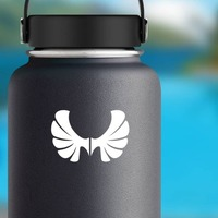 Set Of Wings With Rounded Edges Sticker on a Water Bottle example