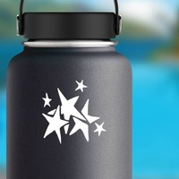 Seven Stars Cluster Sticker on a Water Bottle example
