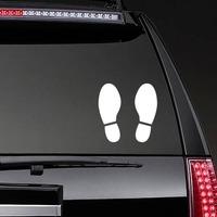 Shoe Footprints Sticker on a Rear Car Window example