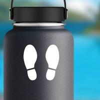 Shoe Footprints Sticker on a Water Bottle example
