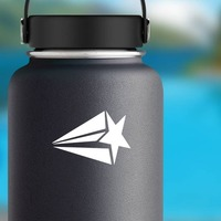 Shooting Star Sticker on a Water Bottle example