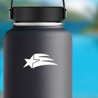 Shooting Star With Small Train Sticker on a Water Bottle example