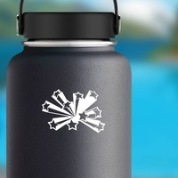 Bursting Shooting Stars Sticker on a Water Bottle example