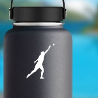 Shot Put Sticker on a Water Bottle example
