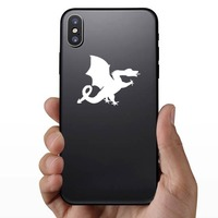 Silly Dragon Sticking Out Tongue Sticker on a Phone example