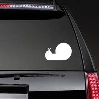 Silly Snail Sticker on a Rear Car Window example