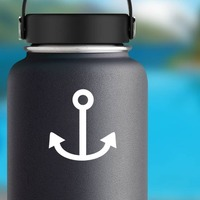 Simple Anchor Sticker on a Water Bottle example