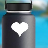 Simple Heart Shape Sticker on a Water Bottle example