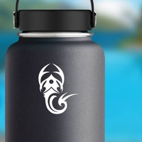 Simple Tribal Scorpion Sticker on a Water Bottle example