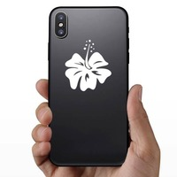 Simply Lovely Hibiscus Flower Sticker on a Phone example