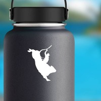 Skillful Rodeo Cowboy Bull Rider Sticker on a Water Bottle example