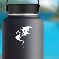 Sleek Dragon Sticker on a Water Bottle example